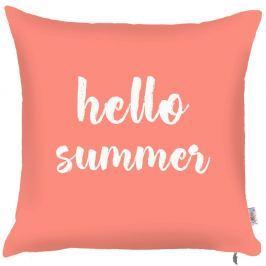 Față de pernă Apolena Coral Hello Summer, 43 x 43 cm