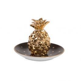 Farfurie decorativă Sass & Belle Polka Dot Pineapple