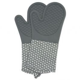 Set 2 mănuși din silicon bucătărie Wenko Oven Grey