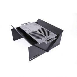 Șemineu exterior cu grătar, NOVAK Original, mic, negru