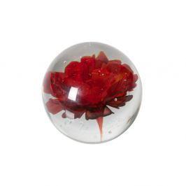 Decoraţiune din sticlă cu flori roşii De Eekhoorn Botanics