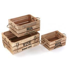 Set 3 cutii de lemn Versa