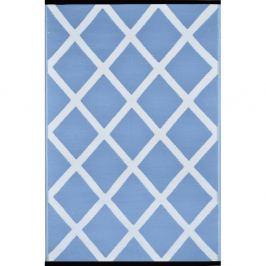 Covor reversibil de exterior Green Decore Silenco, 120 x 180 cm, alb - albastru