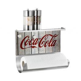 Suport magnetic pentru prosoape de bucătărie cu raft Wenko Coca-Cola Wood