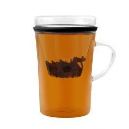 Cană cu perete dublu şi filtru pentru ceai Vialli Design Fuser, 300 ml