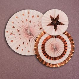 Set 3 decorațiuni roz Neviti Glitz & Glamour