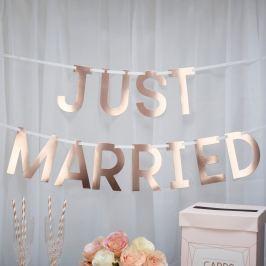 Ghirlandă cu inscripție Neviti Geo Blush Just Married