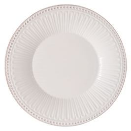 Farfurie din ceramică Clayre & Eef Cooking, Ø 25 x 3 cm, alb