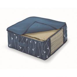 Cutie de depozitare din material textil Cosatto Leaves , lățime 45 cm, albastru