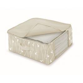 Cutie de depozitare din material textil Cosatto Leaves , lățime 45 cm, bej