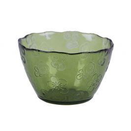 Bol din sticlă Ego Dekor Flora, 14 cm, verde