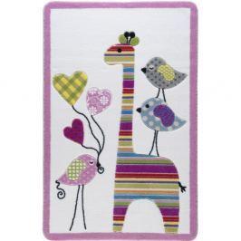 Covor pentru copii Confetti Giraffe, 133 x 190 cm, roz