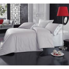 Lenjerie de pat cu cearşaf Plain, 200 x 220 cm, gri