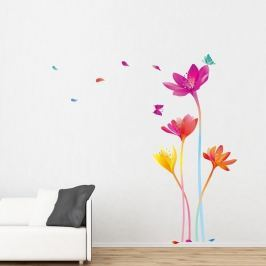 Set autocolante  Ambiance Rainbow Flowers