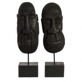 Set 2 statuete decorative din lemn de mango Denzzo Jarita