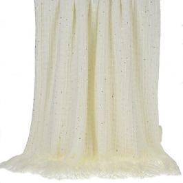 Cuvertură InArt Ivory Bringes, 130 x 150 cm