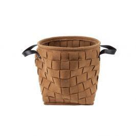 Coș pentru depozitare, cu mânere din piele, PT LIVING Storage, maro