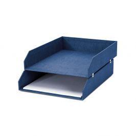 Organizator cu 2 compartimente pentru documente Bigso, 31 x 23 cm, albastru