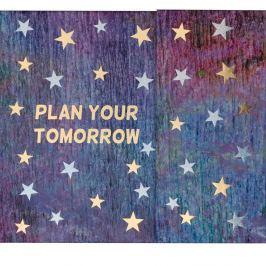 Planificator săptămânal cu cleme și compartiment depozitare Tri-Coastal Design Tomorrow