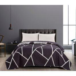 Cuvertură reversibilă DecoKing Catmint, 170 x 210 cm, negru