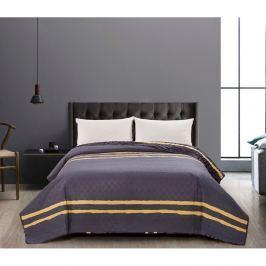 Cuvertură reversibilă DecoKing Turmeric, 170 x 210 cm, negru - gri