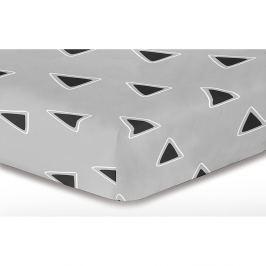 Cearşaf cu elastic DecoKing Triangle, 220 x 200 cm, gri
