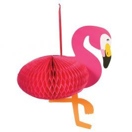 Decorațiune din hârtie Rex London Flamingo Honeycomb