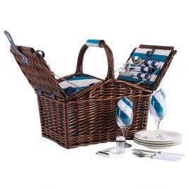 Coș picnic, echipament pentru 4 persoane Navigate Aqua