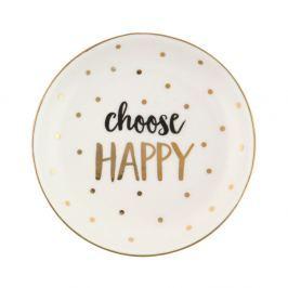Farfurie decorativă din ceramică Sass & Belle Choose Happy