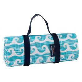 Pătură picnic Navigate Wavy, 150 x 130 cm, albastru