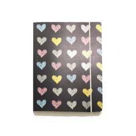Agendă A6 Go Stationery Hearts Chunky