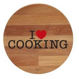 Tocător din lemn de fag Bisetti I Love Cooking, 30 cm