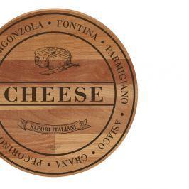 Tocător din lemn de fag Bisetti Broad Cheese, 30 cm