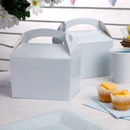 Set 8 cutii de hârtie pentru gustări Neviti Polka Dot, albastru