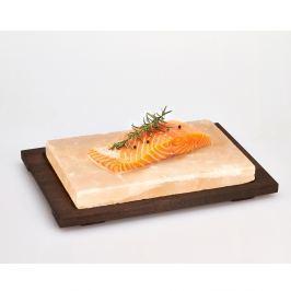 Tavă din piatră de sare Bisetti Salt Plate, 38 x 27 cm