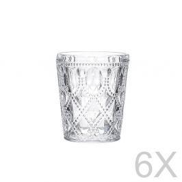 Set 6 pahare transparente din sticlă InArt Glamour Beverage, înălțime 10,5 cm