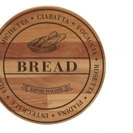 Tocător din lemn de fag Bisetti Broad Bread, 30 cm