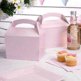 Set 8 cutii de hârtie pentru gustări Neviti Polka Dot, roz