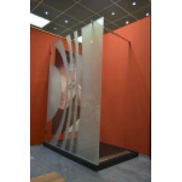 PERETE DUS, GEAM SABLAT CU MODEL, L.120XH.200cm