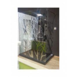 PERETE DUS GEAM LAMINAT 10MM, MODEL COPAC CROM, ACCESORII CROM, L.150XH.200cm