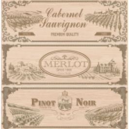 PLACI DECOR HAMPTON PT PERETE, DECORADO MERLOT-3 (SET 3 PIESE), O PLACA=25X75 cm BEJ