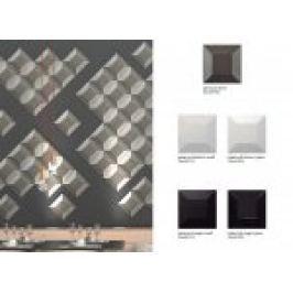 FAIANTA TIP DECOR 3D PIRAMYD, LUCIOASA BLANCO 25X25 CM