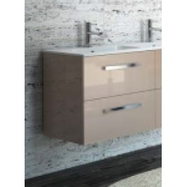 MOBILIER BAIE FUSSION CHROME 600, 2 SERTARE SOFT CLOSE, TAUPE, L.59.8xA.45xH.54CM