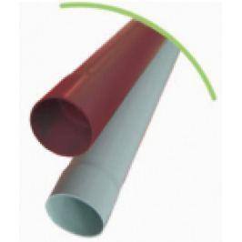 BURLAN DIN PVC CU 1 MUFA D.100mm, ROSU L=1m