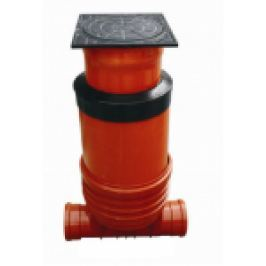 """CAMIN INSPECTIE """"COMPACT"""" M, D.400, 1IN-1OUT D.160 H=0,9-1,4M, GRATAR B125"""