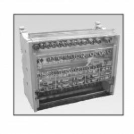 REPARTITOR MODULAR (BLOC CONEXIUNI) 4P 100A 4MODULE 4X7 GAURI (3X10MMP/3X16MMP/1X25MMP