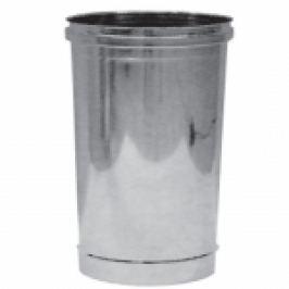 ELEMENT LINIAR DIN INOX PENTRU COS DE FUM MONO PERETE 0,25 METRI D.130