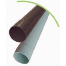 BURLAN DIN PVC CU 1 MUFA D.100mm, MARO INCHIS L=3m