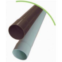 BURLAN DIN PVC CU 1 MUFA D.100mm, MARO INCHIS L=1m