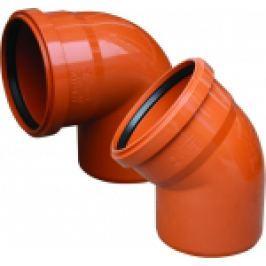 COT PVC CU GARNITURA PT CANALIZARE LA 45 GRD D.200mm
